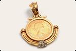 昔プレゼントされたゴールドのコイン付きネックレス