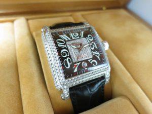 フランク・ミュラー コンキスタドールコルテス10000 H SC D 1P純正ダイヤ買取いたしました。