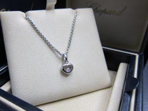 ショパールハッピーダイヤネックレスWG1Pダイヤ買取りいたしました。神戸三ノ宮