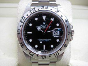 ロレックス エクスプローラーⅡ Ref16570 G番 黒ダイヤル買取りいたしました。神戸三宮時計高価買取ブランドラボ