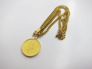 K24金エリザベス金貨&K18金ネックレス総重量38g買取りさせていただきました。