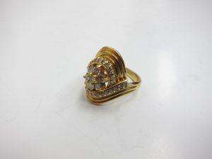 ダイヤリングK18/9.8gメレダイヤ1.0ct買取りいたしました。神戸高価買取ブランドラボ