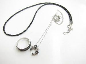 ブラックダイヤモンドネックレス&K18WGリング買取りいたしました。
