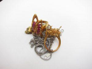 K18金&プラチナPt850ネックレスやリング総重量15.2g買取りいたしました。