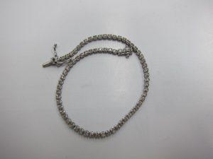 メレダイヤモンド1.00ctテニスブレスK18WG金2.7g買取致しました。