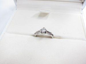 シャネルマトラッセダイヤリングプラチナPt950ダイヤモンド0.2カラット買取いたしました。