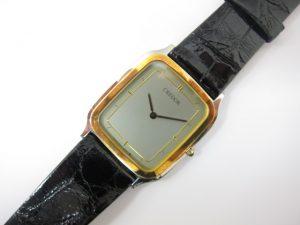 クレドール紳士時計ステンレス&YGコンビ革ベルトクオーツ買取いたしました。