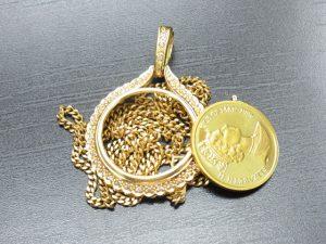 メイプル金貨ネックレス買取させて頂きました。