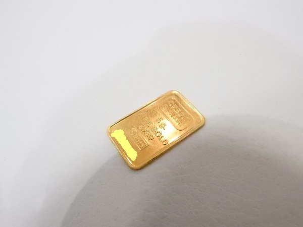 金買取大阪、神戸、k24金インゴットプレート買取、クレディスイス、純金、999.9