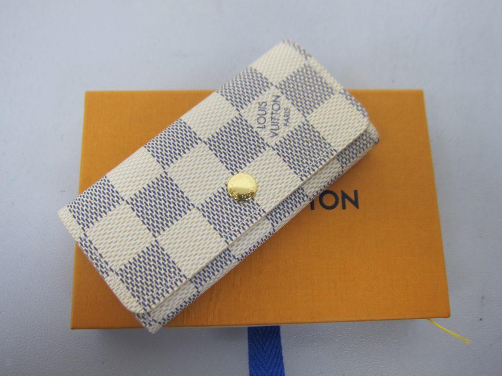 ルイ・ヴィトン・高価買取ミュルティクレ4・N60020大阪神戸ダミエ・アズール