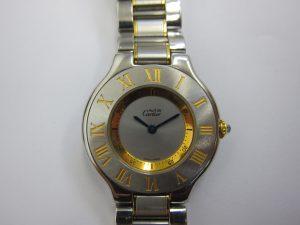 カルティエ高価買取マスト21・大阪神戸ブランド時計買取