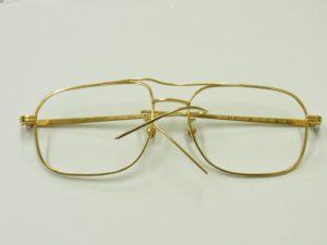金 買取 大阪 神戸 金縁メガネ K18 眼鏡フレーム 18金 無料査定