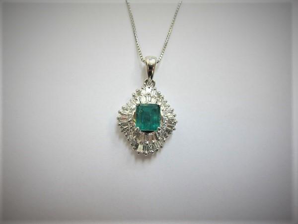 エメラルド・高価買取・大阪神戸エメラルドダイヤモンドネックレス買取