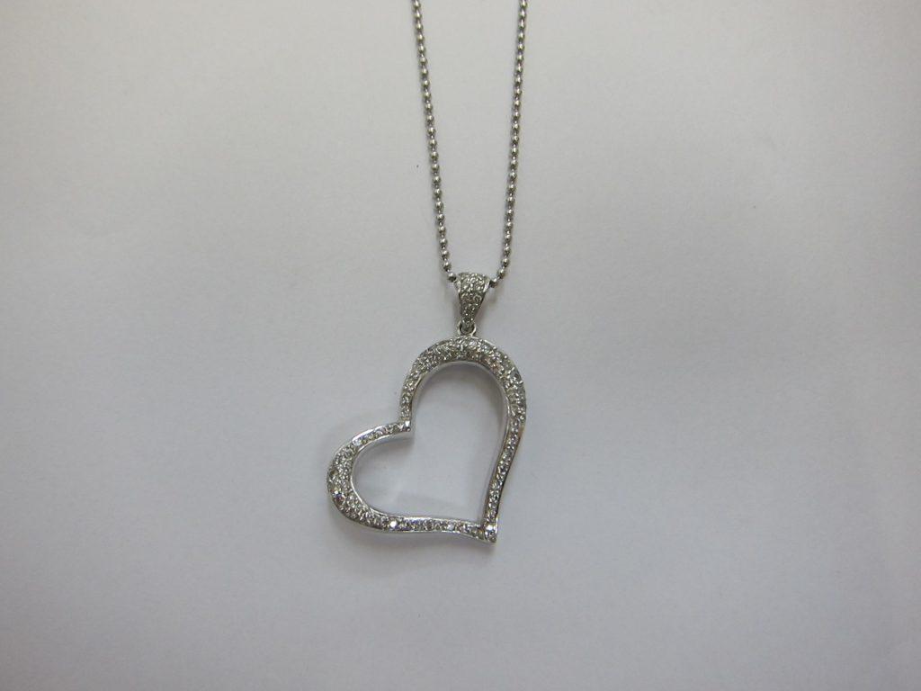 メレダイヤモンドハートネックレストップ・大阪神戸高価買取