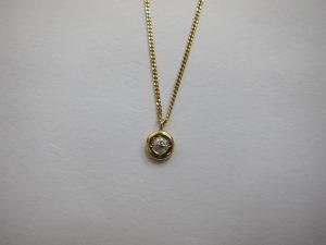 一粒ダイヤモンドネックレス・高価買取大阪神戸