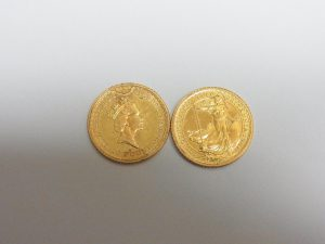 金 買取 神戸 大阪 ブリタニア金貨 エリザベス2世 イギリス 22金 コイン