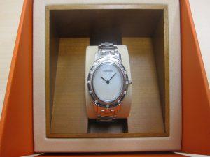 エルメス時計 クリッパーオーバル12P ダイヤ CO1.23買取 大阪・神戸 ブランド時計高価買取