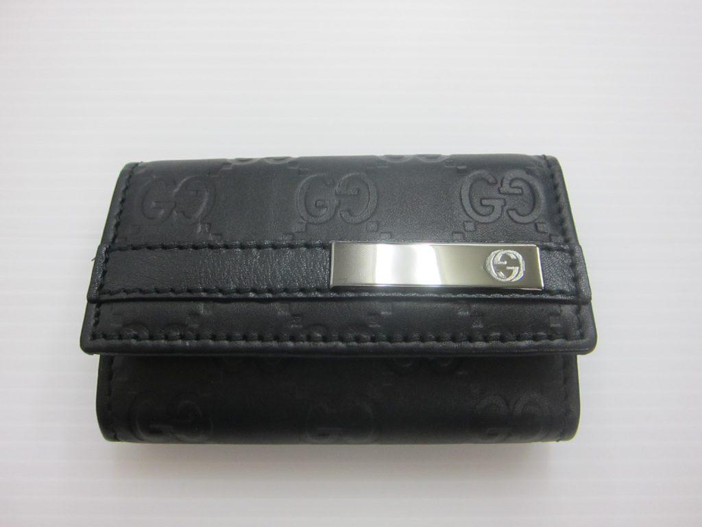 グッチ キーケース6連 買取 大阪・神戸 グッチシマ ブラック 高価買取