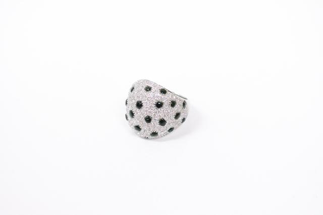 デザインダイヤモンドオニキスパヴェリングK18金WG高価買取