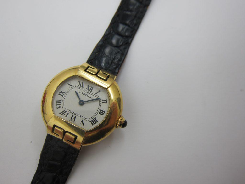 カルティエ・K18YG エリプス 時計・大阪神戸高価買取