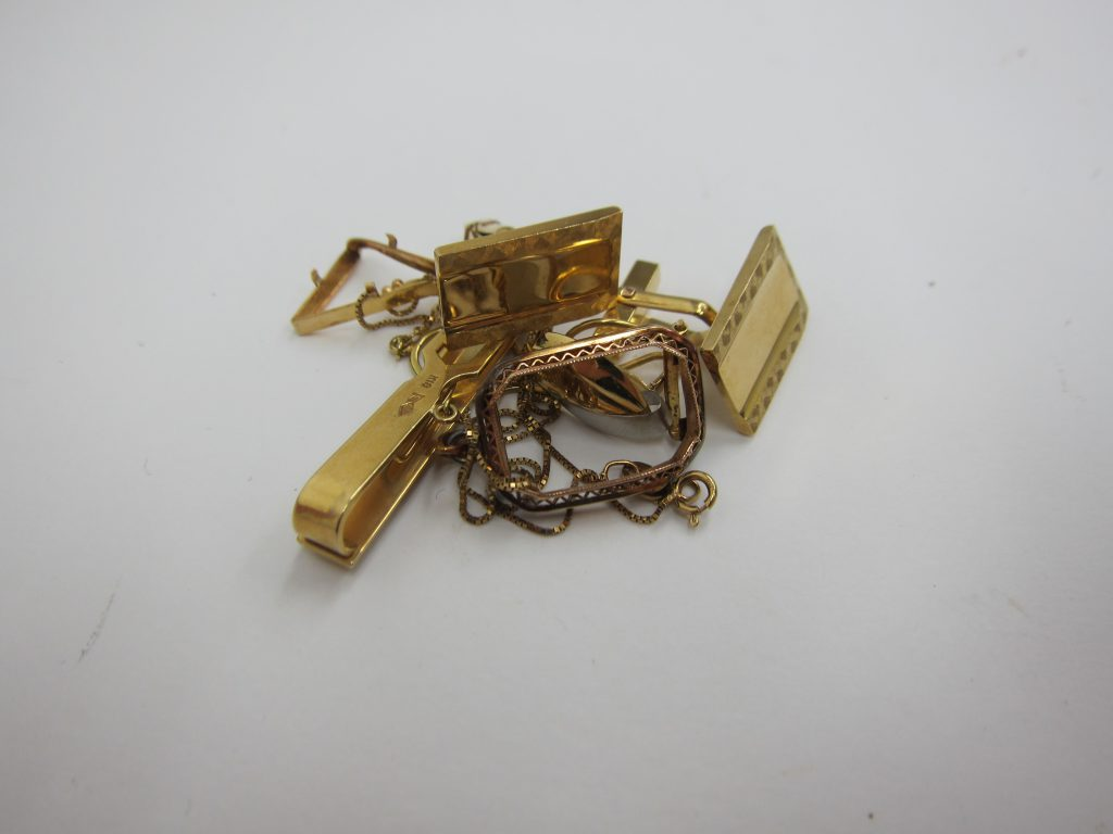 k18・金タイピン・カフス・買取大阪神戸・金アクセサリー高価買取