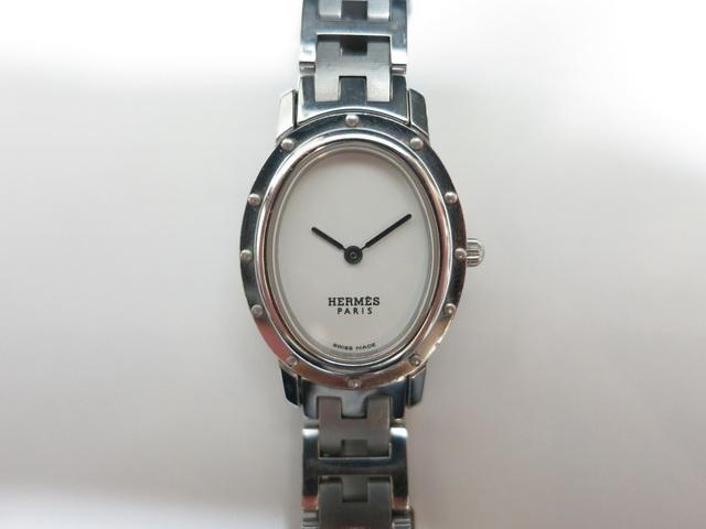 エルメス クリッパーオーバル 電池切れ エルメスの時計強化買取