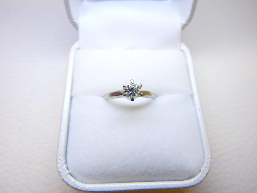 ダイヤリング買取 立て爪リング ダイヤモンド 婚約指輪高価買取