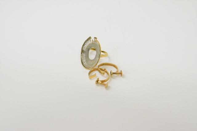 宝石が外れたK18金リング&イヤリング宝石が無くても高価買取