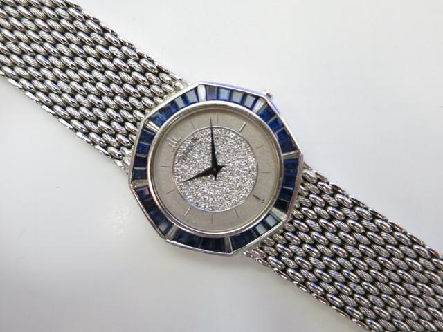 セイコークレドールWG750無垢18K紳士ドレスウォッチセンターパヴェダイヤベゼルサファイア&ダイヤ買取いたしました。