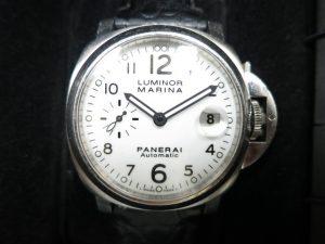 オフィチーネ・パネライ ルミノールマリーナ40mm白文字盤 PAM00049 J番買取いたしました。