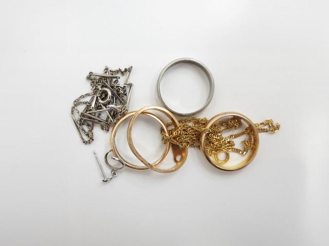 三宮 金買取 K18K14 刻印のない古い貴金属 無料査定
