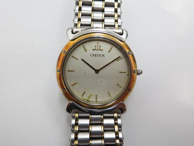 クレドール クォーツ時計買取 緑サビ 液漏れ 壊れた時計高価買取