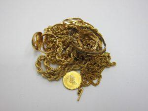 K18金・K24金ネックレスやリング数点お持ち込み頂きました。神戸・三宮