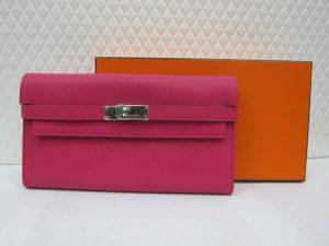 エルメス ケリーウォレット シェーブル ピンク買取りいたしました。神戸三宮ブランドラボ