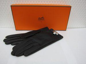 エルメスレザーグローブ黒買取りいたしました。神戸三宮高価高価買取ブランドラボ