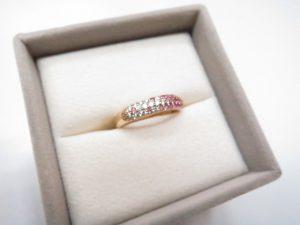 PVポンテヴェキオ パヴェリング ピンクサファイア0.29ct ダイヤモンド0.15ct買取いたしました。