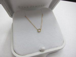 スタージュエリーK18金ダイヤ0.06ctネックレス/0.9g買取いたしました。神戸三宮高価買取ブランドラボ