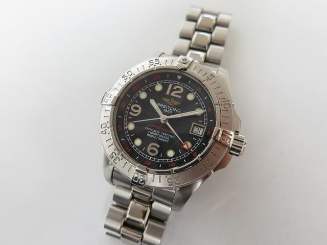 ブライトリング スーパーオーシャンGMT ブランド時計 高価買取
