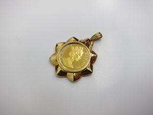 エリザベス金貨K24金&K18金枠総重量12g買取りいたしました。