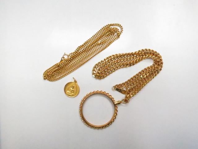 K18金K24金ネックレスやペンダントトップや枠のみ総重量54.0g買取いたしました。