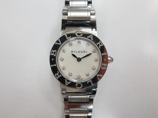 ブルガリ BBL26S ホワイトシェル&12Pダイヤ 時計買取
