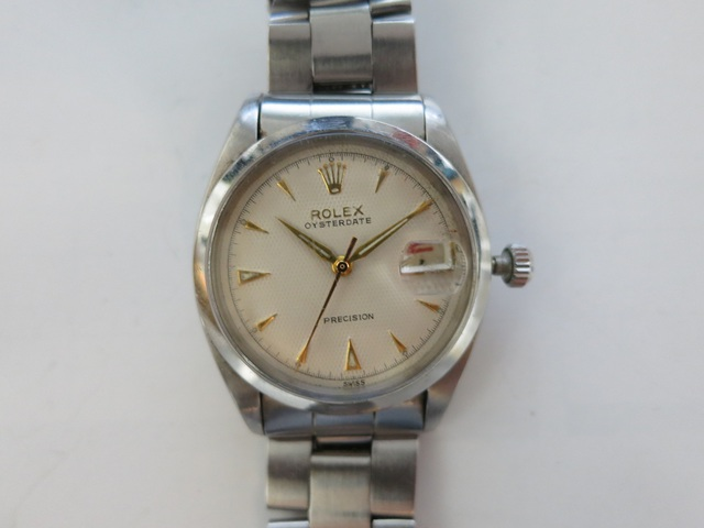 ロレックス 6494 赤黒カレンダー アンティーク時計 高価買取