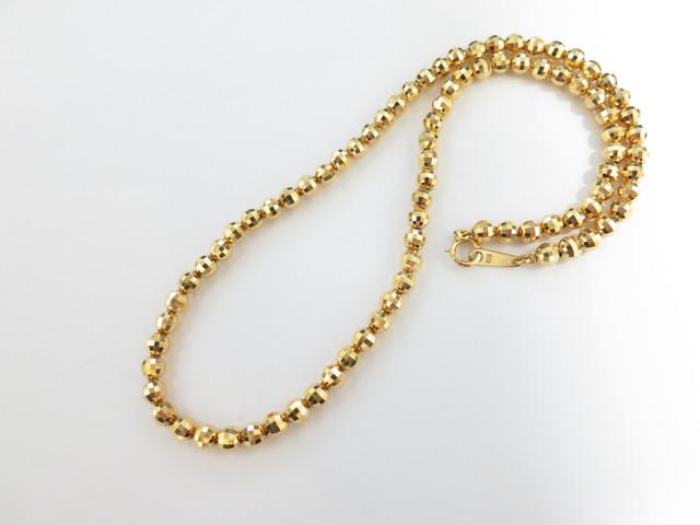 重量のある金のネックレス 高価買取 K18価格 金の無料査定