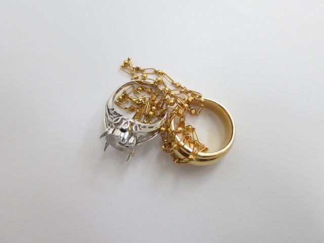 金値上がり 金の指輪とネックレス買取価格 K18・K14 無料査定