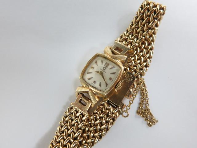 オメガ アンティーク時計買取 14K 社外ブレスの時計 高額査定