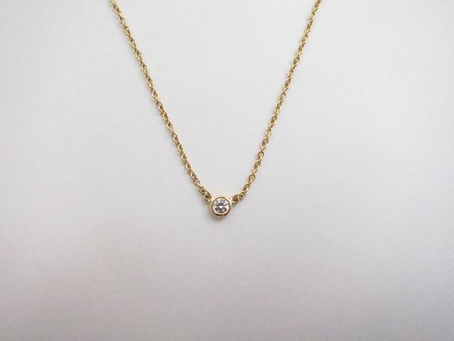 quality design 45782 689f8 ティファニー バイザヤードネックレス ダイヤモンド0.05ct 18KYG ...