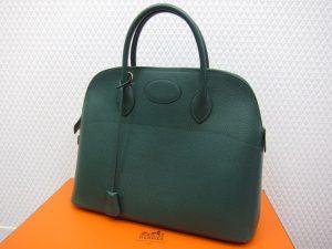 エルメスボリード37/クシュベル/緑買取いたしました。