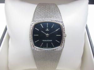ジャガー・ルクルト レディース時計K18WGベゼルダイヤ手巻き買取りいたしました。