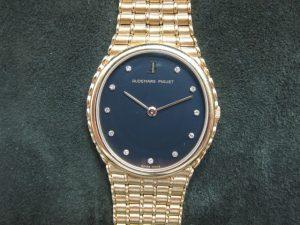 AP オーデマ・ピゲ レディース時計K18YG11Pダイヤ手巻き買取りいたしました。
