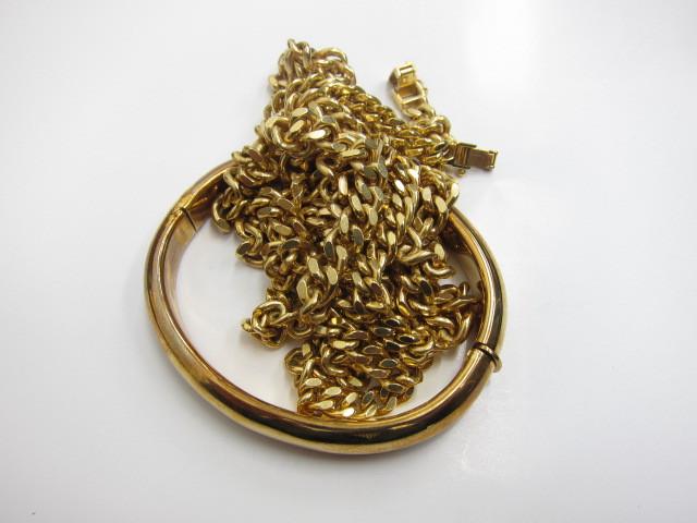 喜平ネックレス&ブレスレットK18金120g買い取いたしました。